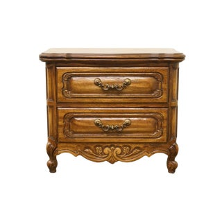 20th Century French Style Two Drawer Nightstand For Sale