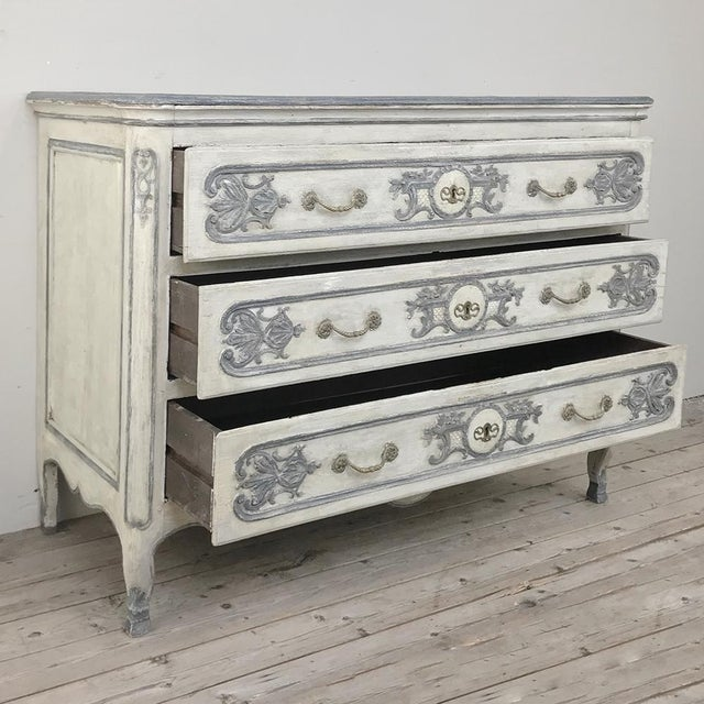 19th Century Country French Regence Painted Commode For Sale In Dallas - Image 6 of 13