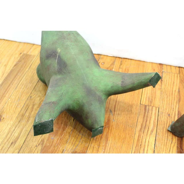 Vintage Modern Abstract Art Studio Ceramic Tripod Sculptures - a Pair For Sale - Image 9 of 13