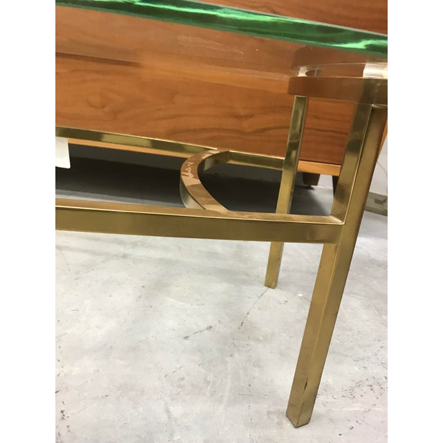 Italian 1970s Vintage Italian Brass Coffee Table For Sale - Image 3 of 9