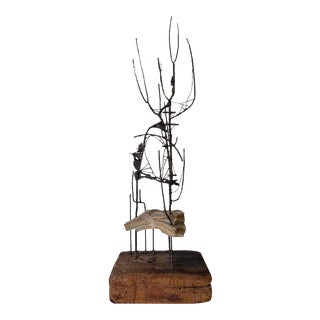 Brutalist Sculpture Attributed to American Artist Jack Cartlidge C.1950s For Sale
