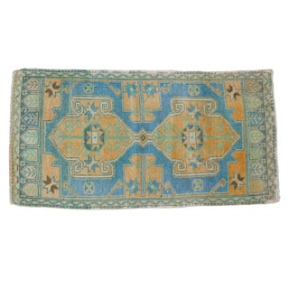 "Vintage Distressed Oushak Rug - 1'10"" X 3'6"" For Sale"