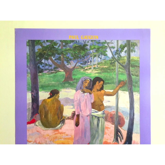 """This Paul Gauguin rare vintage 1989 Post Impressionist lithograph print museum poster """" L'appel """" 1902. is a very special..."""