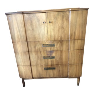 Mid Century Modern John Widdicomb Gentleman's Chest Dresser For Sale