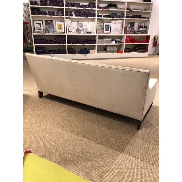 Kingston Transitional Scalamandre Velvet Upholstered Sofa For Sale - Image 4 of 12