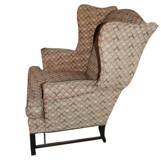 Vintage Traditional Wingback Chair For Sale