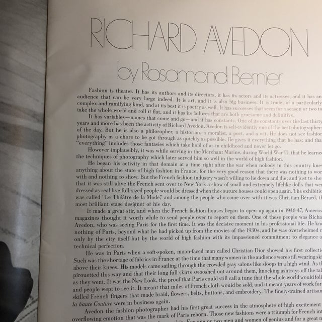 1970s 1977 Avedon Photographs 1947-1977 Book For Sale - Image 5 of 8