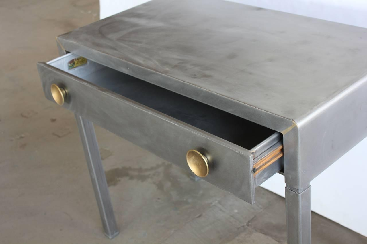 simmons metal furniture. Stylish 1920s Industrial Metal Desk By Simmons - Image 3 Of 4 Furniture E