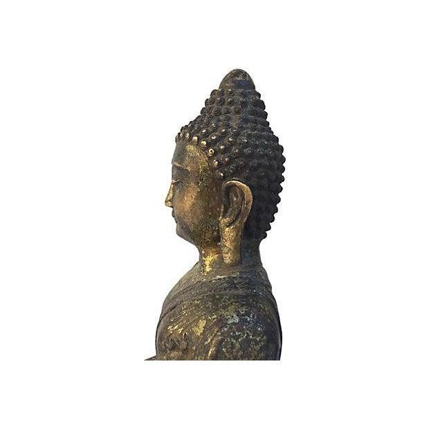 Gold Buddha Seated Statue - Image 4 of 6