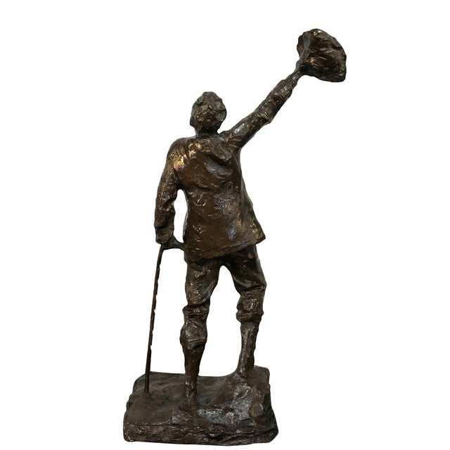 Art Nouveau 19th Century French Sculpture the Wanderer by Aime Jules Dalou For Sale - Image 3 of 6