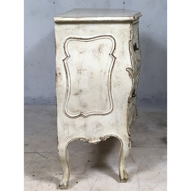 Carved Louis XV Style Painted Chest - Image 5 of 8