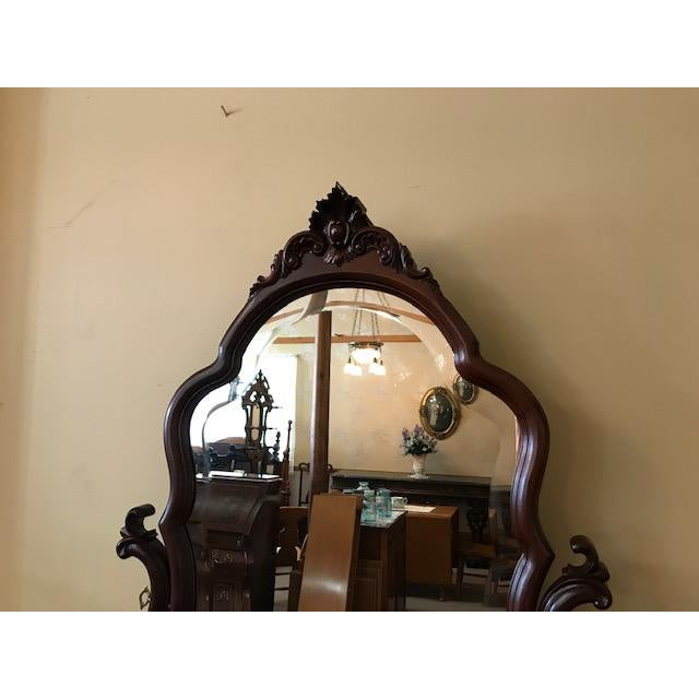 Antique Mahogany Jean Harlow Vanity For Sale - Image 9 of 10