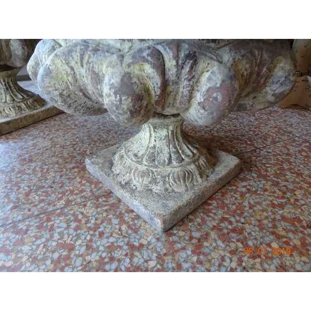 Ceramic Pair of French Terra Cotta Jardinieres For Sale - Image 7 of 10