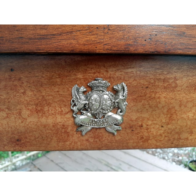 Vintage Theodore Alexander Althorp Carved Wood Gilded Console Table For Sale - Image 11 of 13