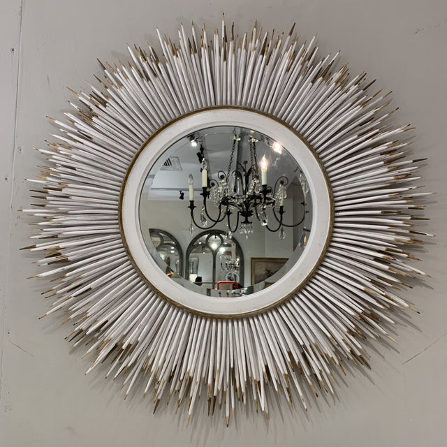 Hollywood Regency Faux Porcupine Mirror For Sale - Image 13 of 13