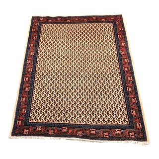 Hand Knotted Wool Area Rug - 3′4″ × 4′8″