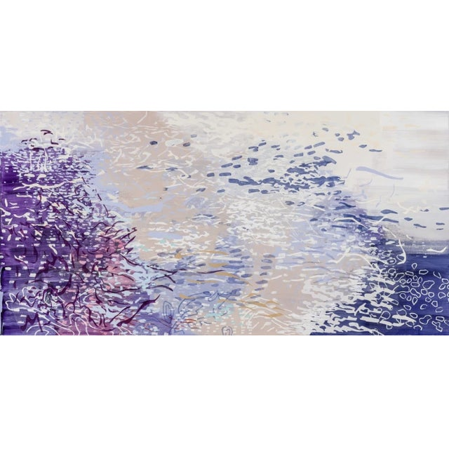 "Early 21st Century Laura Fayer ""Spirit Garden"", 2018 Purple Abstract Painting on Canvas For Sale - Image 5 of 5"
