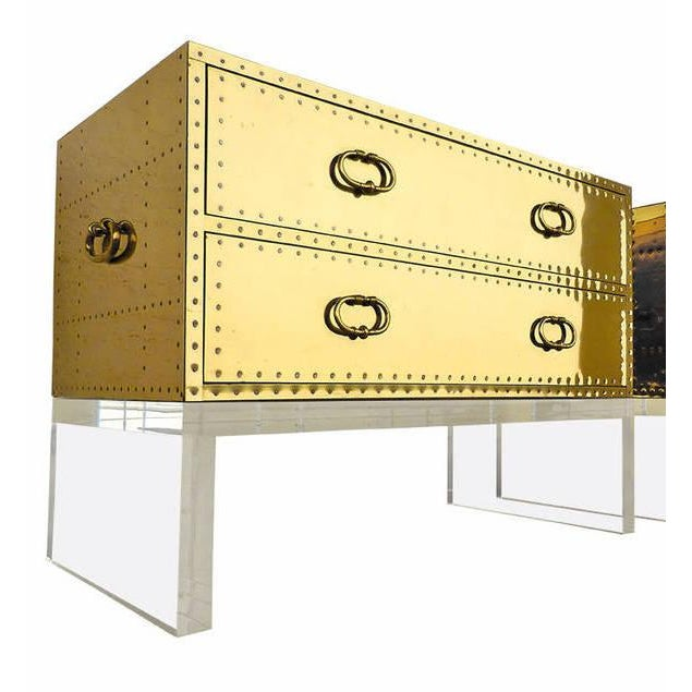 Sarreid Gold Bedside Chest - Image 6 of 6