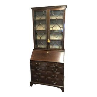 18th Century English Chippendale Mahogany Secretary Bookcase For Sale