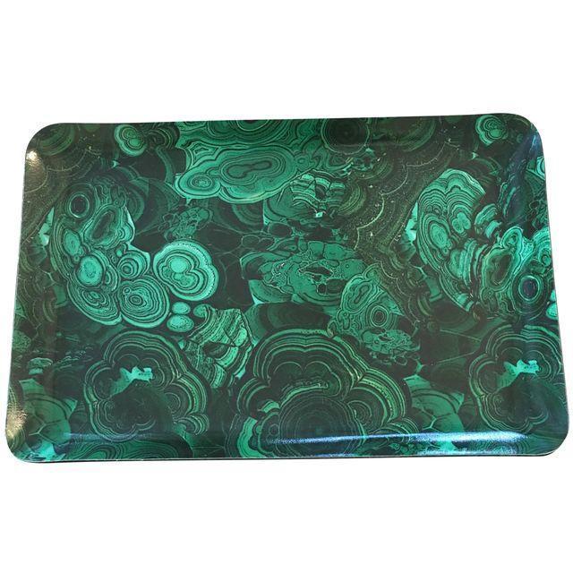 Malachite Fabric Coated Tray - Image 1 of 3