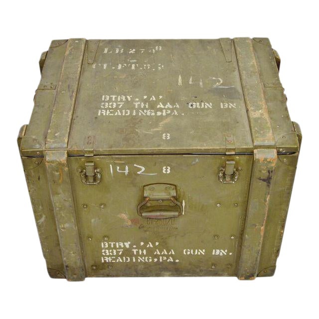 United States Army AAA Gun Site Equipment Crate For Sale