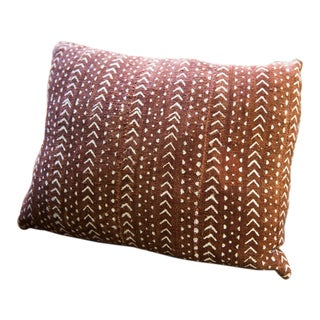African Boho-Chic Mud Cloth Pillow For Sale