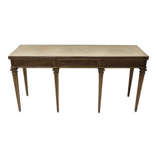 1950s Traditional Maison Jansen Directoire Style Console Table For Sale