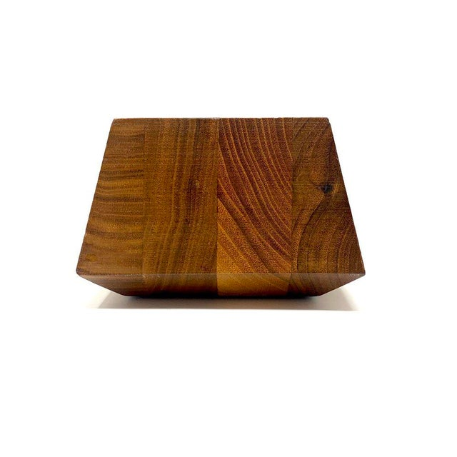 Mid-Century Modern Geometric Wooden Desk Organizer For Sale - Image 9 of 13