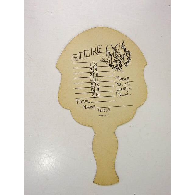 Art Deco Vintage Art Deco Fan Bridge Tally Cards Butterfly - Set of 4 For Sale - Image 3 of 4