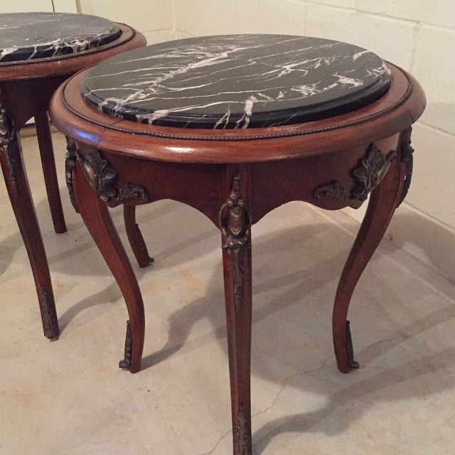 Antique French Side Tables - A Pair - Image 8 of 9