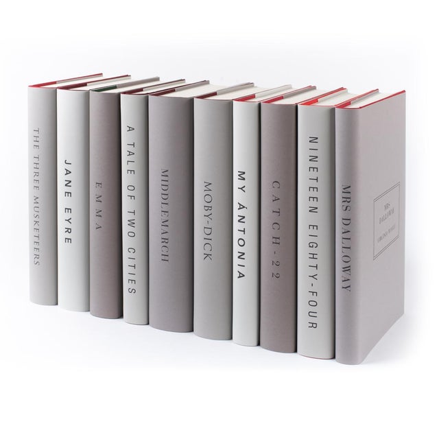 Contemporary The Modern Classics Book Collection - Set of 10 in Neutral Colors For Sale - Image 3 of 6