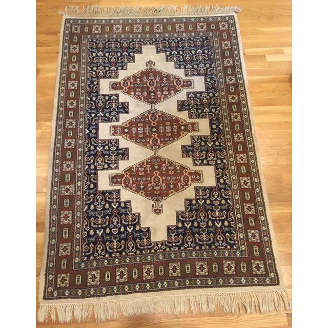 """Vintage Oriental Tribal Rug - 4'1"""" X 6'10"""" - Image 6 of 7"""
