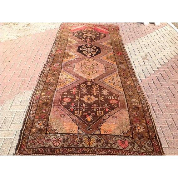 Traditional Vintage Anatolian Rug - 5′3″ × 13′4″ For Sale - Image 3 of 6