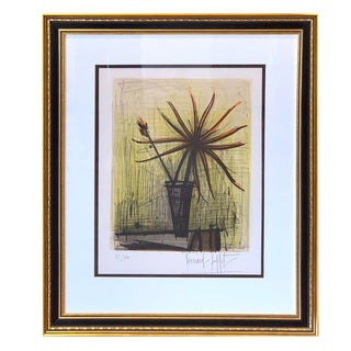 Bernard Buffet, Floral Still Life Lithograph, 37/50 For Sale