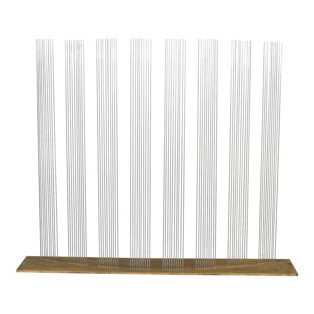 """Val Bertoia """"8 Times Sound"""" Rods Sculpture For Sale"""