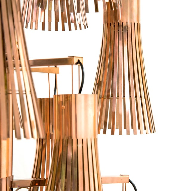 Contemporary Kam Tin - Copper Chandelier - 2018 For Sale - Image 3 of 5
