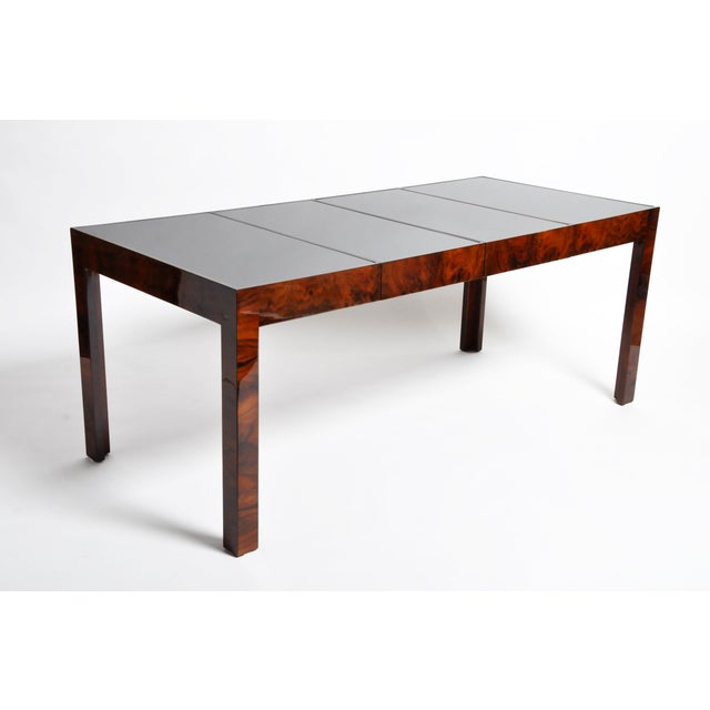 Hungarian Walnut Veneer Dining Table With Extensions For Sale - Image 13 of 13