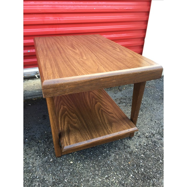 Mid-Century Modern Shelved Side Tables - A Pair - Image 5 of 7