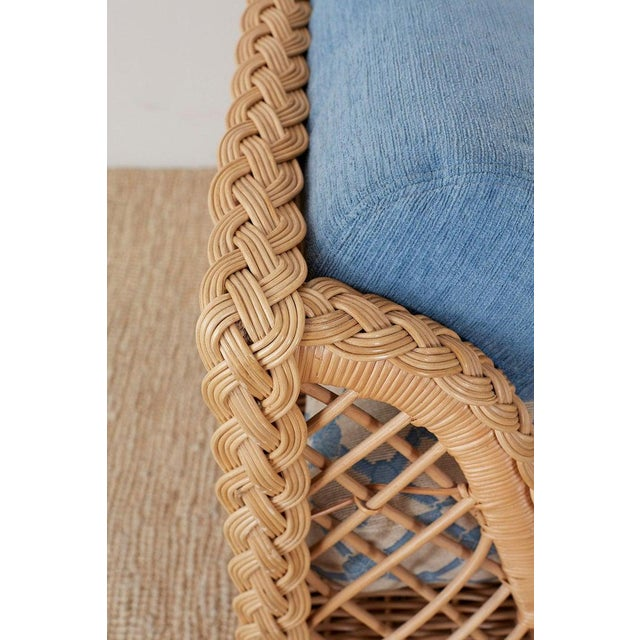 Bamboo McGuire Organic Modern Rattan and Wicker Daybed Sofa For Sale - Image 7 of 13