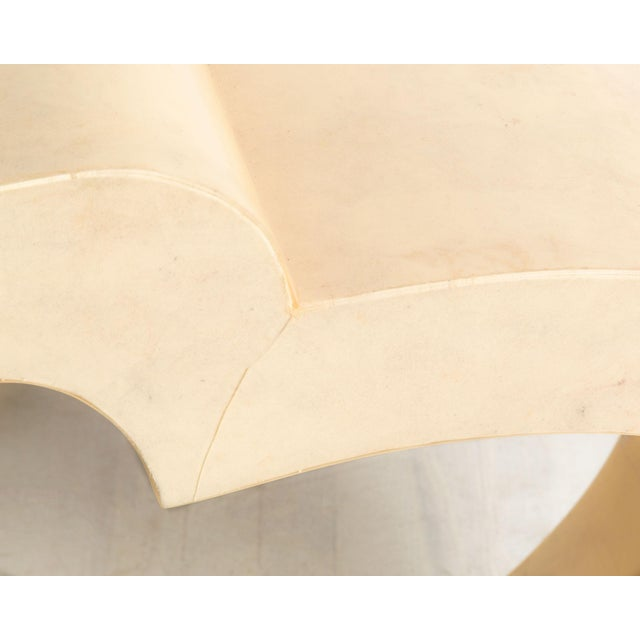 Resin Curved Parchment Console Table For Sale - Image 7 of 8