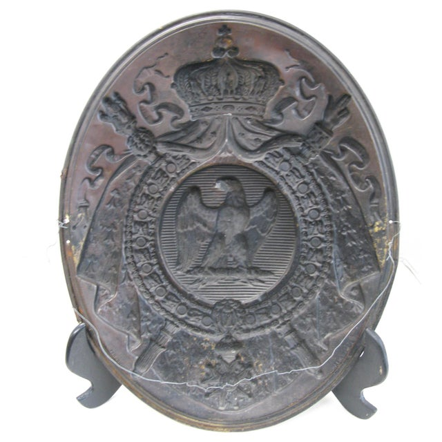 Antique French 1st Empire Brass Oval Notary Plaque For Sale - Image 12 of 13