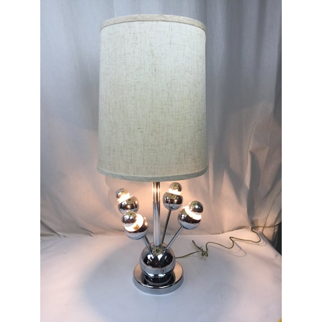 Atomic Chrome Table Lamp For Sale - Image 4 of 6