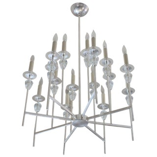 Tommi Parzinger Style Chandelier For Sale
