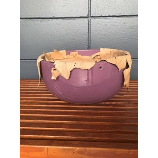 Mid-Century Purple Hanging Pottery Planter Preview