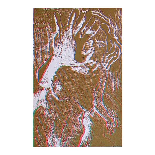 Brown Nude Silkscreen by Lloyd Fertig For Sale