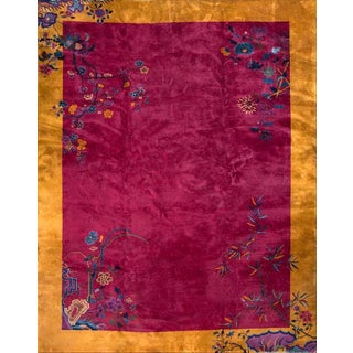 1920s Antique Chinese Art Deco Rug For Sale