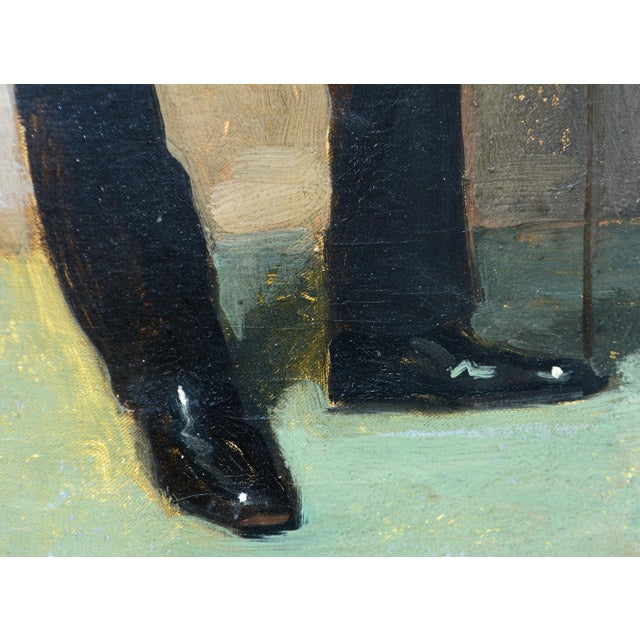 Black To the Manor Born' Full Length Portrait by Maurice Wagemans, Belgian 1877-1927 For Sale - Image 8 of 12