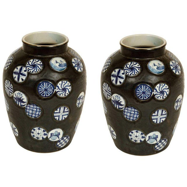 Pair of Ceramic Vases For Sale - Image 4 of 4
