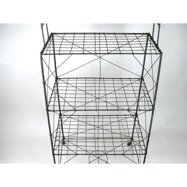 Late 19th Century Antique Wavy Wire Étagère Plant Stand For Sale - Image 5 of 7