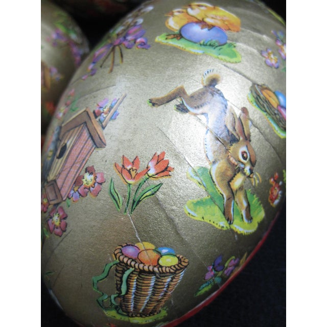 Late 19th Century German Papier-Mâché Easter Egg Shaped Candy Container Holiday Ornaments For Sale - Image 5 of 8